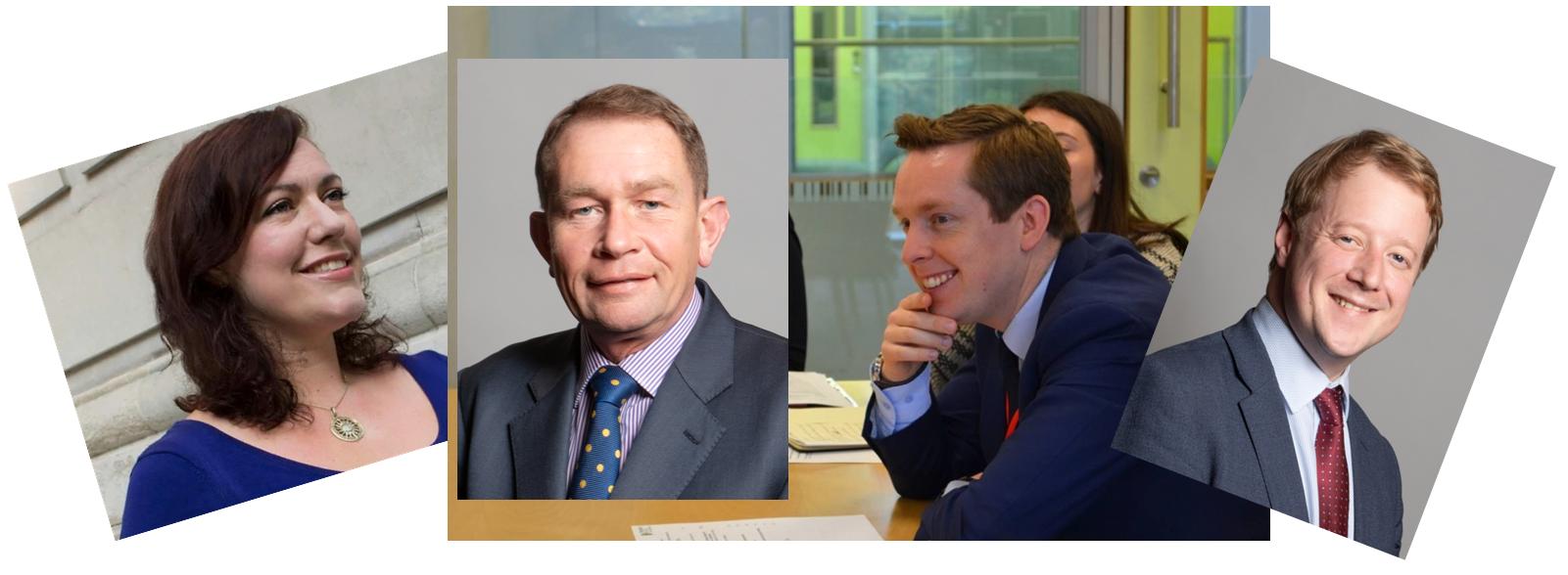 Collage image of Alicia Kearns MP, Philip Hollobone MP, Tom Pursglove MP, Paul Bristow MP